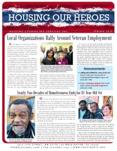 Housing Our Veterans - Spring 2016 Page 1